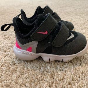 4C Black & Hot Pink Nike Sneakers
